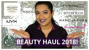 first makeup haul of 2018 kiko body marc jacobs super smashbox mac cosmetics nyx guru emporium