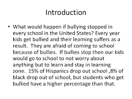 how to write an introduction in cyber bullying essay introduction targets of cyberbullying display increased signs of anger depression anxiety and emotional distress smith 2008 i wrote this essay as an assignment for