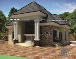 2 bedroom flat bungalow house plan