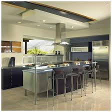 Open Kitchen Layout Kitchen Islands Contemporary Open Kitchen Ideas Hood In The