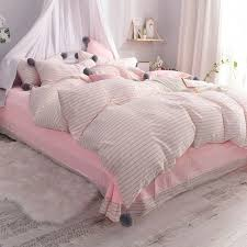 details about 100cotton pink girls bedding set twin queen king size bed set ball duvet cover