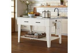 Image Island Set Living Spaces Magnolia Home Jos White Kitchen Island By Joanna Gaines