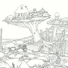 legendary worlds colouring book treehouses by witek