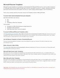 Free Maintenance Resume Templates Awesome Free Microsoft Word Resume