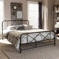 Vintage Industrial Black Finished Queen Metal Bed | RC Willey Furniture  Store