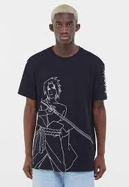Bershka NARUTO - T-Shirt print - black/schwarz - Zalando.de