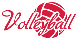 Volleyball Word Volleyball Word With Ball Sticker