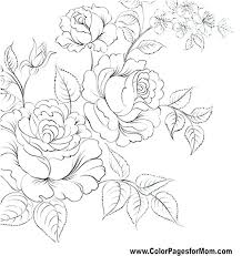 Flowers Colouring Pages Pdf Adult Flower Coloring For Adults C Moonoon