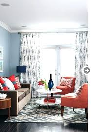 casual what color curtains with blue walls brown furniture q0989604