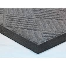Ottomanson Doormat Collection Ribbed Carpet Rubber Backed Entrance ...