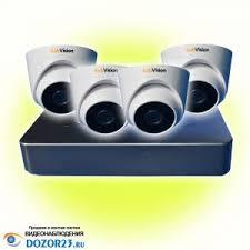 Купить видеонаблюдение в краснодаре ⋆ Системы безопасности и связи Комплект видеонаблюдения kubvision 4 1