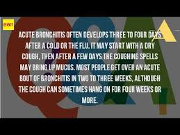 acute bronchitis can be self-healing