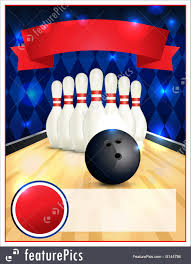 Bowling Flyer Template Blank Bowling Flyer Template Illustration 1
