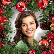 christmas photo frame with