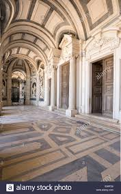 Italian Baroque Interior Design Entrance To Italian Baroque Sculptures In Mafra National