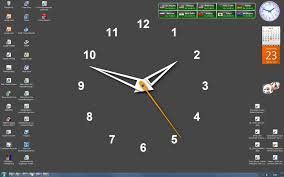 running clock wallpaper for desktop
