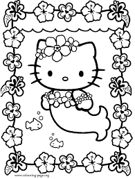 Small Picture Hello Kitty Hello Kitty dressed as a mermaid coloring page