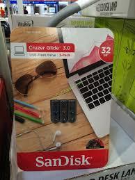 Sandisk Cruzer Glide 32gb Usb Flash Drive 3 0 3pk Costcochaser