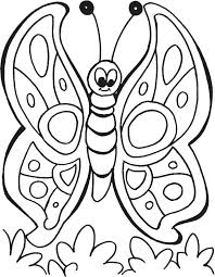 Spring Butterfly Colouring Pages Spring Time Coloring Pages Download