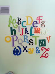 painted alphabet wooden alphabet set