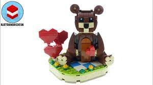 Lego 40462 Valentine's Brown Bear - Lego Speed Build Review - YouTube