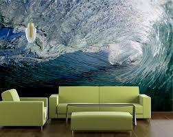 custom surfing inspired wall mural