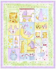 Alphabet Zoo by Springs - Patchwork jb quilting fabrics | BABY ... & Baby Moon - Cot Quilt Craft Panel- Cotton Fabric Adamdwight.com