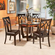 dining room table mirror top: bassett mirror elation wood back side chair beyond stores