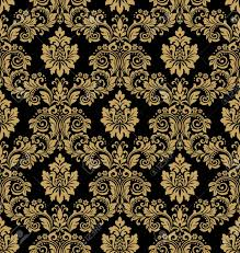 Black And Gold Wallpaper Pattern