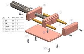 drill press vise plan parts list
