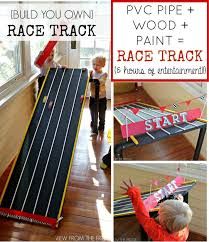 diy pvc and wood hot toy car racetrack