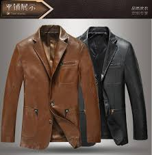 autumn sheepskin genuine leather clothing blazers jacket men s slim fit suit casual outerwear coat men blazer masculino