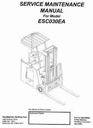 yale electric forklift truck type esc30ea workshop service manual yale electric forklift truck type esc30ea workshop service manual circuit diagramhigh
