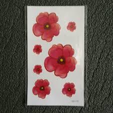 флеш тату временная татуировка цветы 105 X 6 см