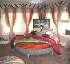 Circular Bed Tasty Eclectic Circular Bed With Bohemian Bedroom Ideas Style