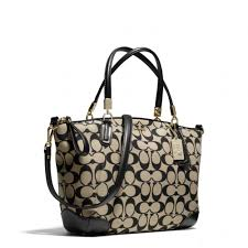 Coach Madison Small Kelsey Satchel in Printed Signature Fabr ...