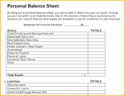 Sample Personal Balance Sheet Accounting Balance Sheet Template Excel Pepino Co