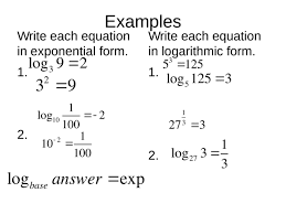 10 2 logarithms and logarithmic functions objectives 1 evaluate logarithmic expressions 2 solve