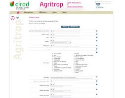 agritrop the open repository of cirad publications  agritrop is the open repository of cirad publications its content is provided by cirad researchers themselves who deposit their publications