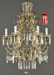 marie antoinette large crystal chandelier vintage antique french 1 of 10only 1 available