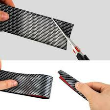 <b>CAR</b> STICKERS CARBON Fiber Rubber Door Sill <b>Protector</b> For ...