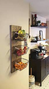 hanging baskets for kitchen and fruit baskets hanging from the wall 75 3  tier hanging wire . hanging baskets for kitchen ...
