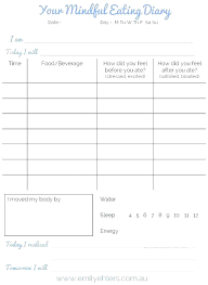 eating log 7 day food diary template brillant me
