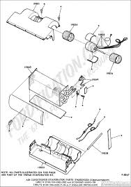 Air conditioner evaporator parts passenger partment