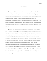 essay on teenage pregnancy teenage pregnancy teen opinion essay teen ink