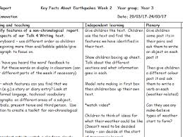 Chronological Words Animal Non Chronological Report Examples By Mrsteer Teaching