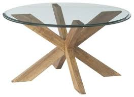 Coffee Table:Round Glass Top Coffee Table With Wood Base Gwenieve Cocktail  Table By Arteriors