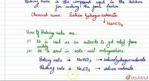 write the chemical name of baking soda