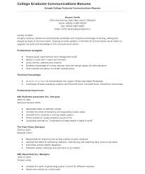 Resume Template For College Graduate Blaisewashere Com