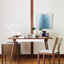 home office desk design ideas. Minimalist Home Office Design With Slim Desk And Cozy Chair Ideas